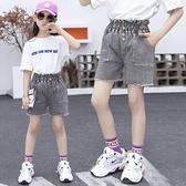 女童牛仔短褲 女童牛仔短褲夏季兒童洋氣童裝中大童正韓薄款女孩褲子-Ballet朵朵