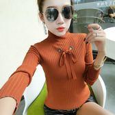 針織衫 930# 秋季新款半高領長袖打底衫毛衣純色套頭針織衫