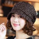 帽子女韓版潮時尚百搭包頭帽優雅堆堆帽加絨...