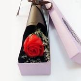 全國速遞仿真玫瑰單支帶禮盒肥皂花香皂花一枝1朵情人節圣誕禮物 夢藝家