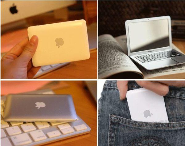 macbook air造型隨身迷你鏡子 創意蘋果筆電鏡子 ipad化妝鏡【Mr.1688先生】