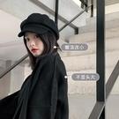 不大頭~立體羊毛呢八角帽子女秋冬季百搭英倫復古韓版潮ins貝雷帽一米