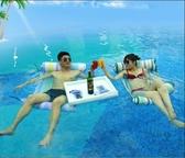 水上充氣浮排浮床游泳圈成人兒童加厚玩具海邊坐騎漂流游泳裝備·享家生活館YTL