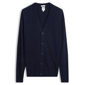 Gap男裝 柔軟美利奴羊毛長袖開襟針織衫 474786-海軍藍