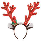 聖誕節 裝扮 華麗髮箍1入-紅麋鹿