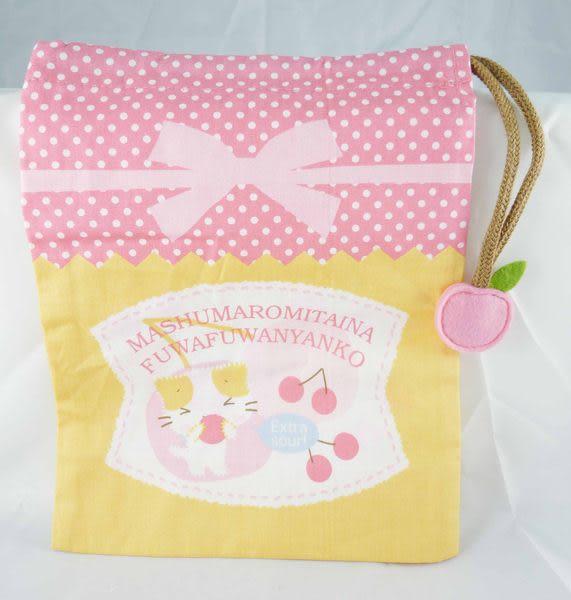 【震撼精品百貨】Mashumaro 棉花糖貓~縮口袋束口袋『櫻桃』