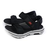 SKECHERS GOWALK 5 運動涼鞋 男鞋 黑色 229003BKOR no350