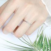 時尚款開口純銀戒指女食指情侶對戒