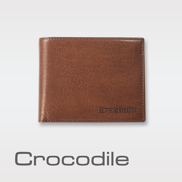 Crocodile Natural系列 義大利植物鞣短夾 0103-58052