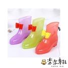 【樂樂童鞋】蝴蝶結果凍雨鞋 R002 - 雨衣 女童 雨鞋 男童 兒童雨鞋 防滑