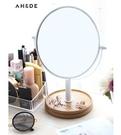 宿舍ins化妝鏡台式公主鏡書桌雙面鏡子少女