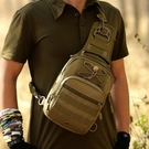 軍規腰包 戰術胸包男路亞包多功能彈弓腰包單肩斜挎小包包10寸平板電腦包  快速出貨