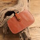 【Solomon 原創設計皮件】手工真皮名片卡夾 公司證件夾套 牛皮卡套夾