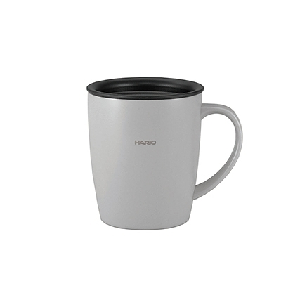 金時代書香咖啡 HARIO 史迪克銀色保溫馬克杯 300ml SMF-300-GR