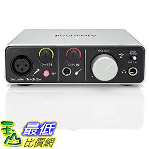 [美國直購] Focusrite 錄音介面 iTrack Solo Lightning and USB Compatible Audio Interface for iPad, Mac OS X and Windows