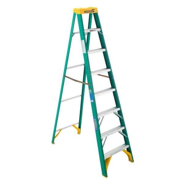 美國Werner穩耐絕緣梯-5908AS 玻璃鋼單側人字梯(梯長2.4m) FRP梯 梯子 進口梯
