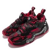 adidas 籃球鞋 D.O.N. Issue 3 J 猛毒 Venom 黑 紅 大童鞋 女鞋 【ACS】 GZ5494