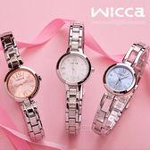 NEW WICCA BG3-716-11 時尚女錶 wicca 白色 (中間款)