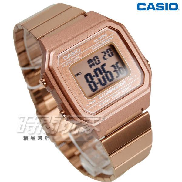 CASIO 卡西歐 B650WC-5A 復古文青風大型數字數位電子錶 男錶 防水手錶 玫瑰金 B650WC-5A