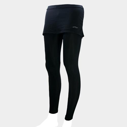 MOVIN  運動彈力長褲裙  黑黑  MA31216B  機能壓力運動長褲裙----女