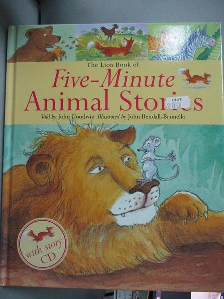 【書寶二手書T1/原文小說_ZHV】The Lion Book of Five-Minute Animal Stories