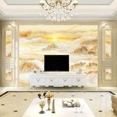 壁紙 歐式8d電視背景牆壁紙簡約現代5d立體大氣仿大理石紋壁畫影視