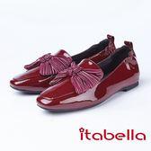 itabella.俏皮英國風-大蝴蝶結包鞋(8552-64紅色)