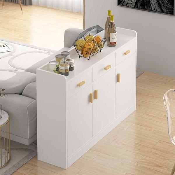 餐邊櫃現代簡約廚房櫃子儲物櫃客廳靠墻家用碗櫃茶水櫃北歐置物櫃