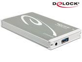 [富廉網] Delock 2.5吋eSATAp 5 in 1 SATA硬碟外接盒- 42545:(科技銀)