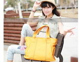 手提包-真皮魅力純色大容量女肩背包10色8b16【巴黎精品】