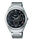 agnes b. Solar 太陽能日曆腕錶(BT5009P1)V14J-0CG0D/40mm黑
