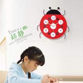 創意卡通掛鐘現代客廳鐘表兒童時鐘時尚簡約掛表臥室 AW14694『紅袖伊人』