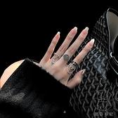 日式輕奢小眾設計戒指女潮人時尚個性復古冷淡風開口指環【貼身日記】
