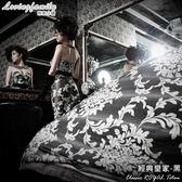 床包 / 雙人【經典皇家系列】含兩件枕套  100%精梳棉  戀家小舖台灣製AAL201