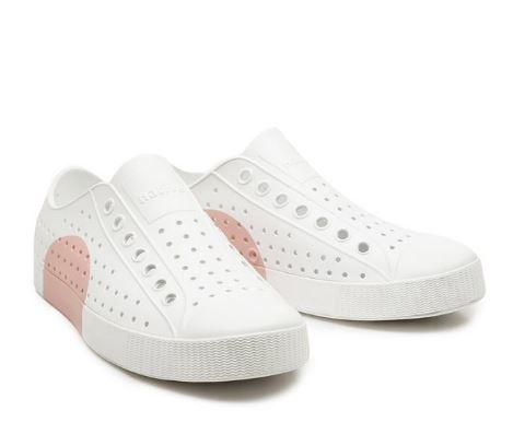 Native Jefferson 男女款白粉 情侶休閒鞋  -NO. 11100102-9221