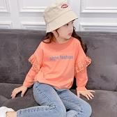 女童t恤長袖秋裝2020新款洋氣中童裝女大童秋冬兒童加絨加厚上衣 【蜜斯蜜糖】
