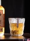 熱賣玻璃杯 日式高顏值玻璃冰川杯風家用網紅創意茶杯洋酒杯子威士忌酒杯 coco