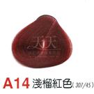【燙後染髮】奇靈鳥 二代染髮劑 A14-淺榴紅色 [62815]