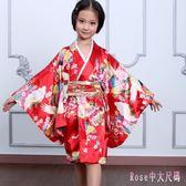 女童和服 日本大和民族服 春夏演出服 舞蹈服 日本公主服 DR22859【Rose中大尺碼】