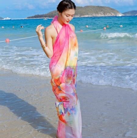 [協貿國際]  女士夏季防曬絲巾圍巾披肩 (1入)