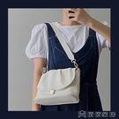 手提包 新款法國小眾軟面手提包大容量褶皺小方包質感單肩斜背女包 【618特惠】