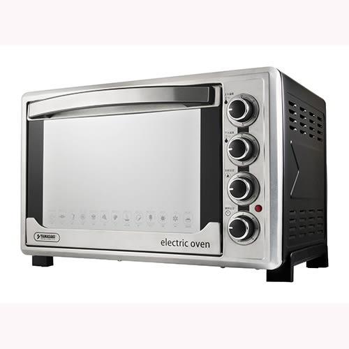 山崎45L不鏽鋼三溫控烘焙全能電烤箱 SK-4590RHS (贈3D旋轉烤籠)