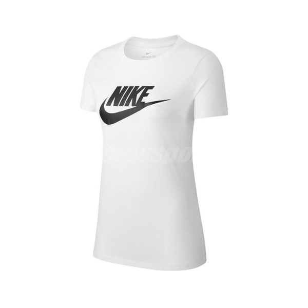 Nike 短袖T恤 NSW Essential T-Shirt 白 黑 女款 短T 運動休閒 【ACS】 BV6170-100