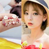 耳釘純銀女氣質韓國個性簡約百搭小耳飾925銀防過敏可愛花朵耳環 范思蓮恩