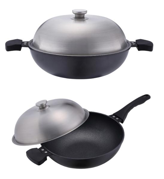 UNICOOK優樂 極致手工鑄造深炒鍋33cm 深鍋 不沾鍋