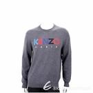 KENZO 多彩字母補丁貼深灰色針織羊毛衫(男款) 1940494-11