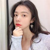 顯臉小的多層水晶纏繞流蘇耳環韓國時尚氣質金屬圓圈耳釘耳墜R884