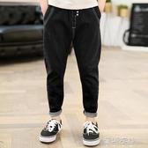 長褲男童牛仔長褲韓版潮中大兒童裝休閒褲子寬鬆12-15歲 歐韓流行館