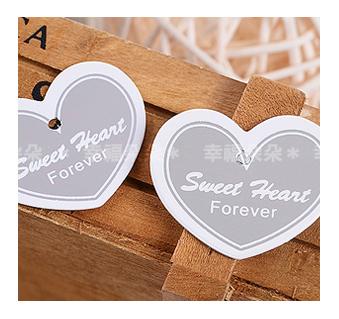 幸福朵朵*【銀色心型Sweet Heart Forever文字小吊牌】婚禮小物.禮物裝飾吊牌.烘焙包裝