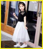 聖誕繽紛節❤女童短裙半身裙新款女寶寶公主蓬蓬裙兒童百褶長裙子中長款網紗裙